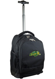 North Dakota State Bison Wheeled Premium Backpack - Black