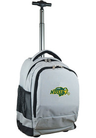 North Dakota State Bison Wheeled Premium Backpack - Grey