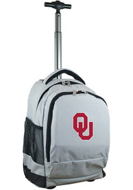 Oklahoma Sooners Wheeled Premium Backpack - Grey