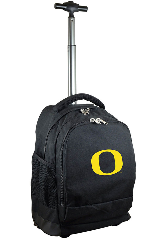Oregon Ducks Black Wheeled Premium Backpack - Image 1