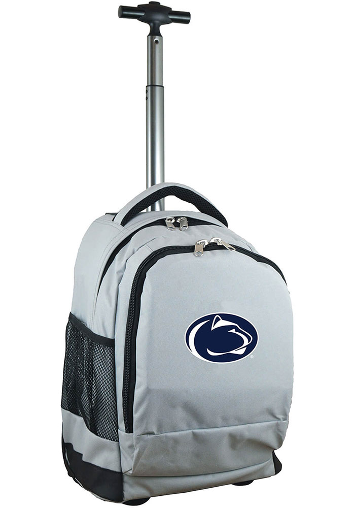 Penn State Nittany Lions Grey Wheeled Premium Backpack - Image 1