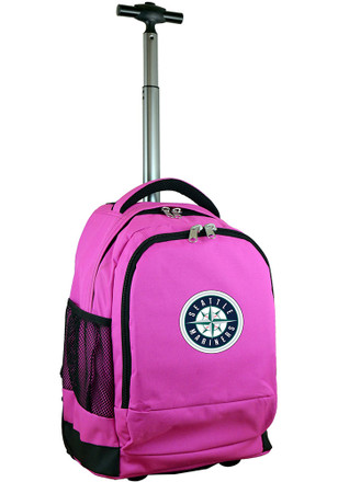 Seattle Mariners Pink Wheeled Premium Backpack