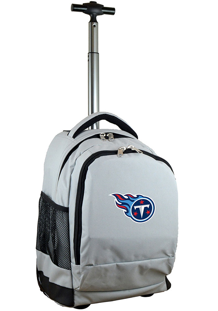 Tennessee Titans Grey Wheeled Premium Backpack - Image 1