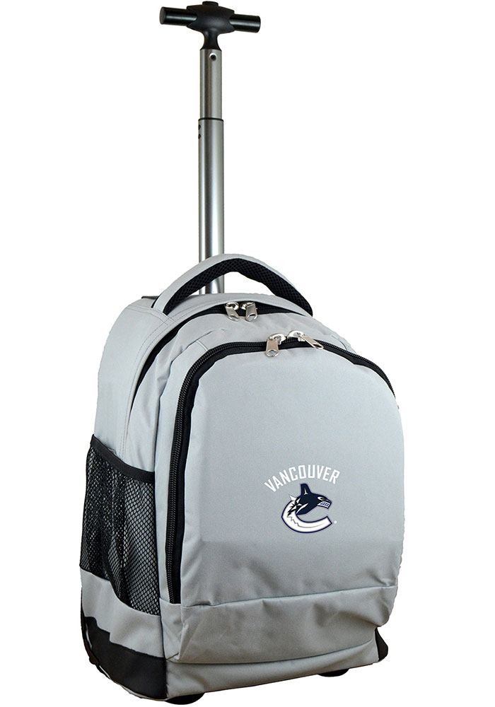 Vancouver Canucks Wheeled Premium Backpack - Grey