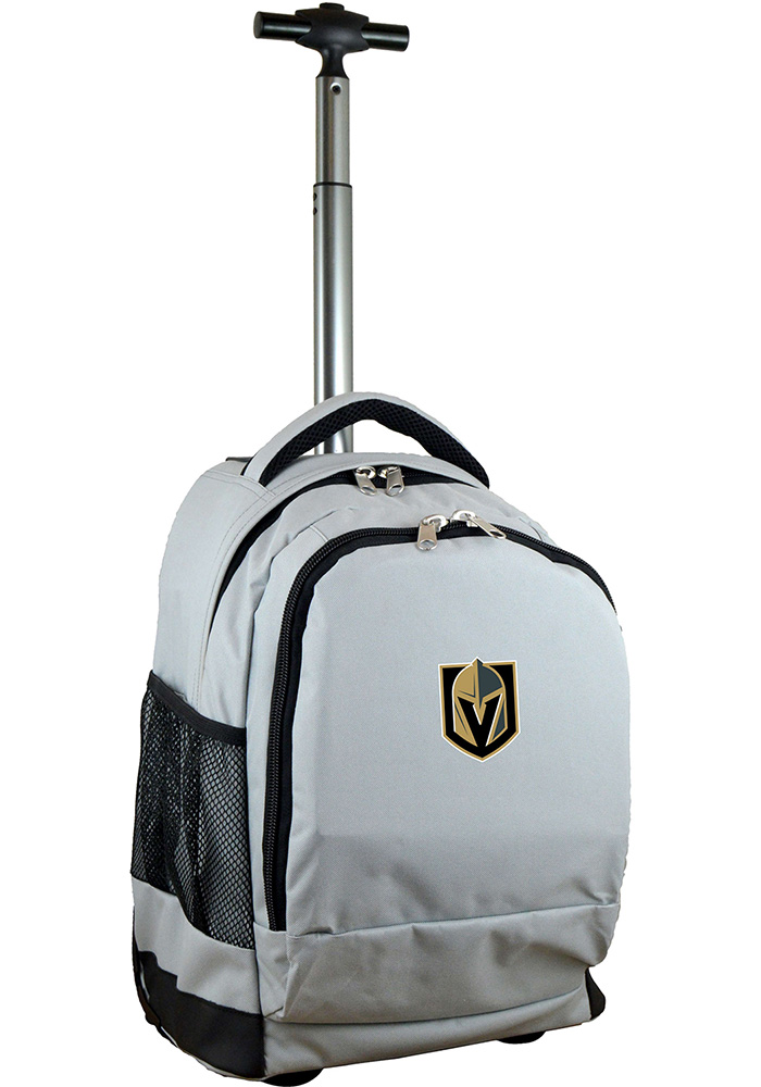 Vegas Golden Knights Grey Wheeled Premium Backpack - Image 1