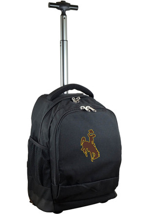Wyoming Cowboys Black Wheeled Premium Backpack