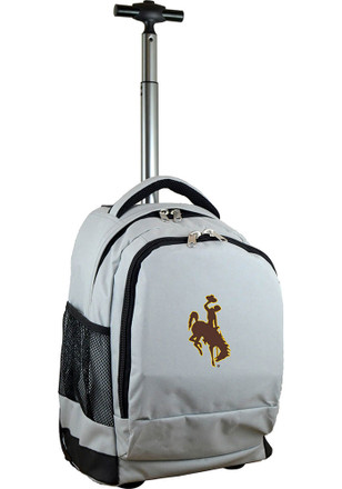 Wyoming Cowboys Grey Wheeled Premium Backpack