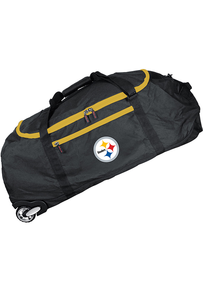 Pittsburgh Steelers Black 36g Rolling Duffel Luggage - Image 1