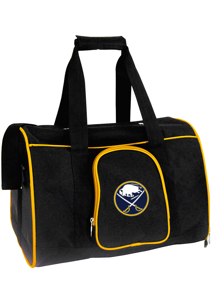 Buffalo Sabres Black 16 Pet Carrier Luggage - Image 1