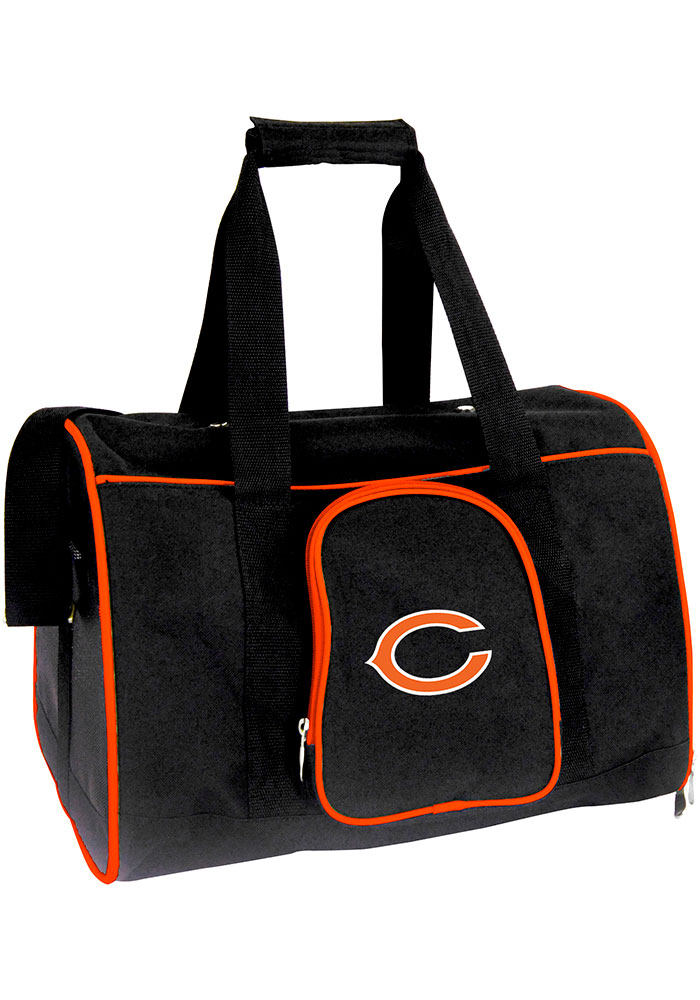 Chicago Bears Black 16g Pet Carrier Luggage - Image 1