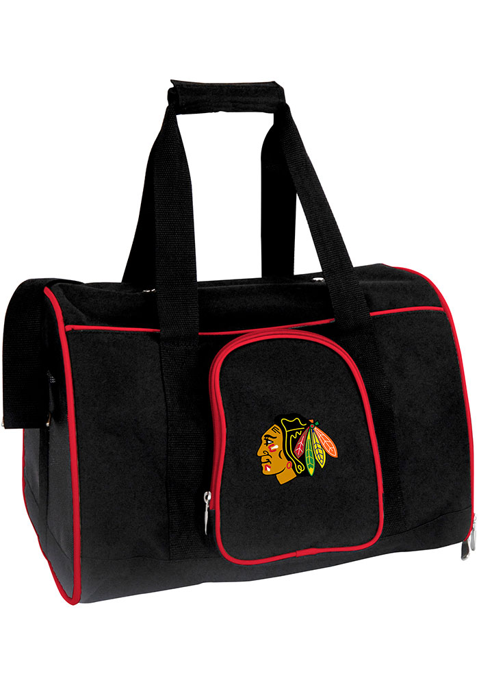 Chicago Blackhawks Black 16 Pet Carrier Luggage - Image 1