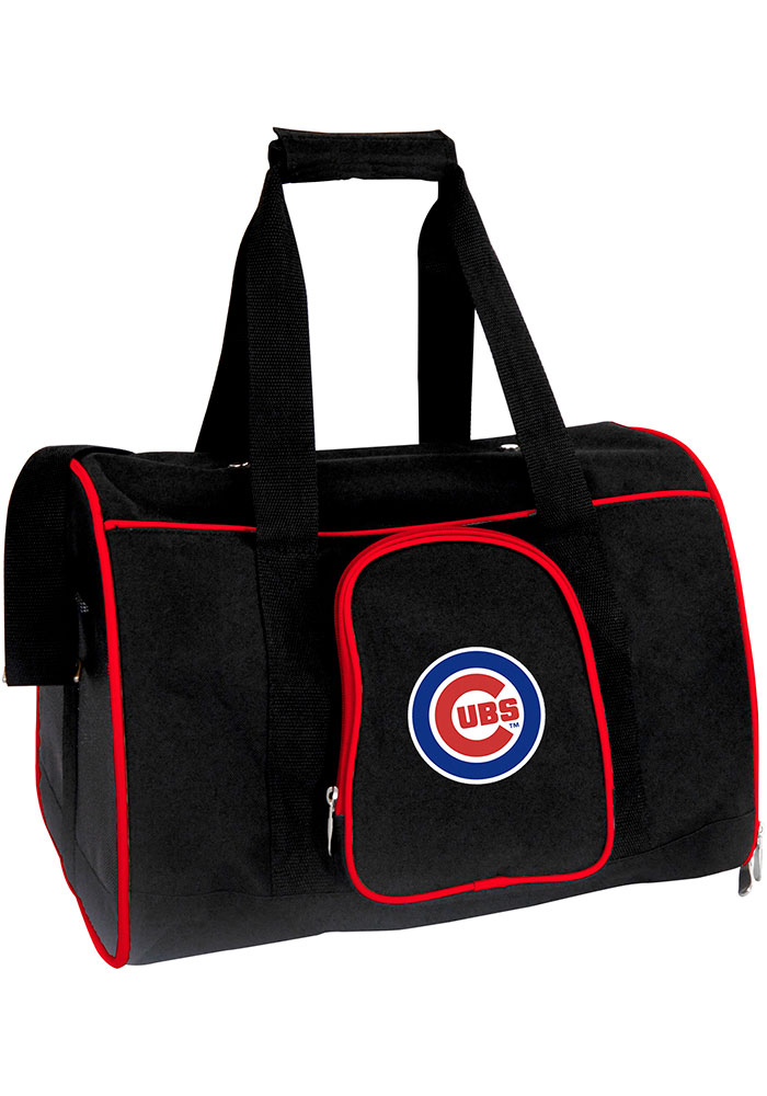 Chicago Cubs Black 16g Pet Carrier Luggage - Image 1
