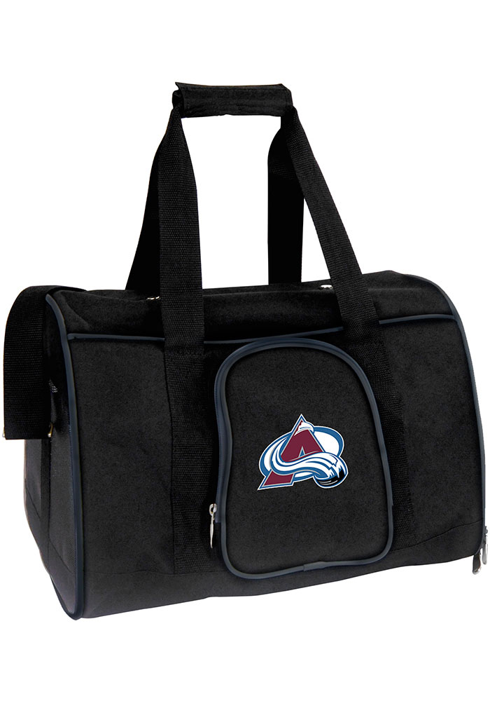 Colorado Avalanche Black 16g Pet Carrier Luggage - Image 1