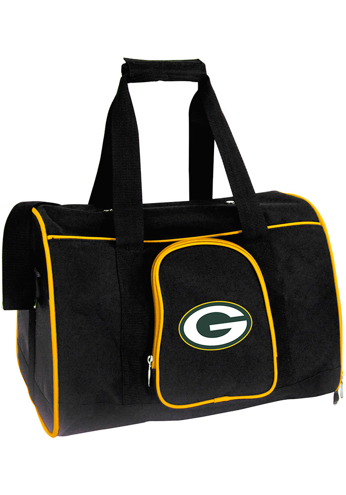 Green Bay Packers Black 16 Pet Carrier Luggage - Image 1