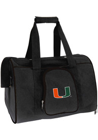 Miami Hurricanes Black 16 Pet Carrier Luggage