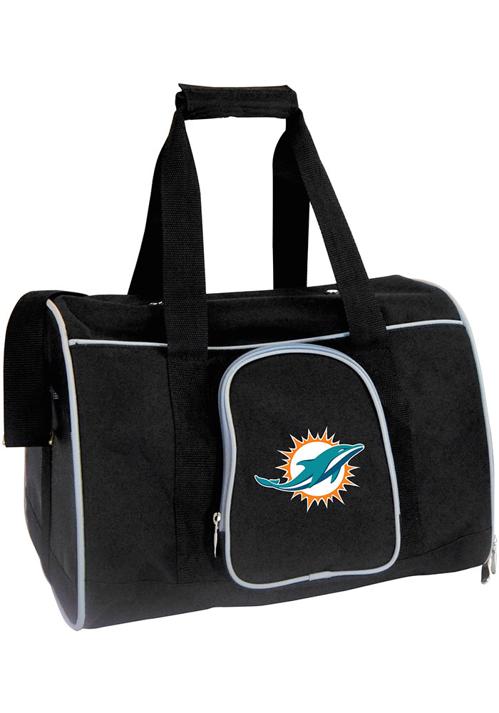Miami Dolphins Black 16g Pet Carrier Luggage - Image 1