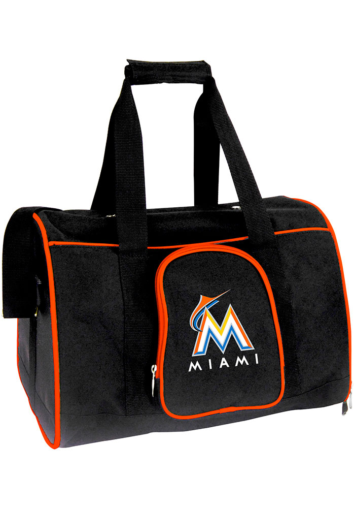 Miami Marlins Black 16 Pet Carrier Luggage - Image 1