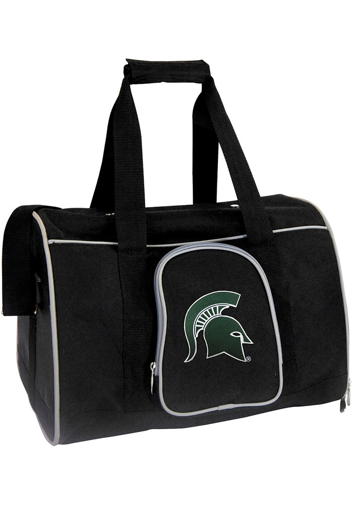 Michigan State Spartans Black 16 Pet Carrier Luggage - Image 1