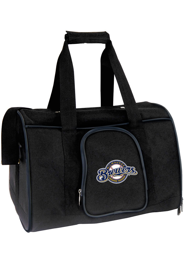 Milwaukee Brewers Black 16g Pet Carrier Luggage - Image 1