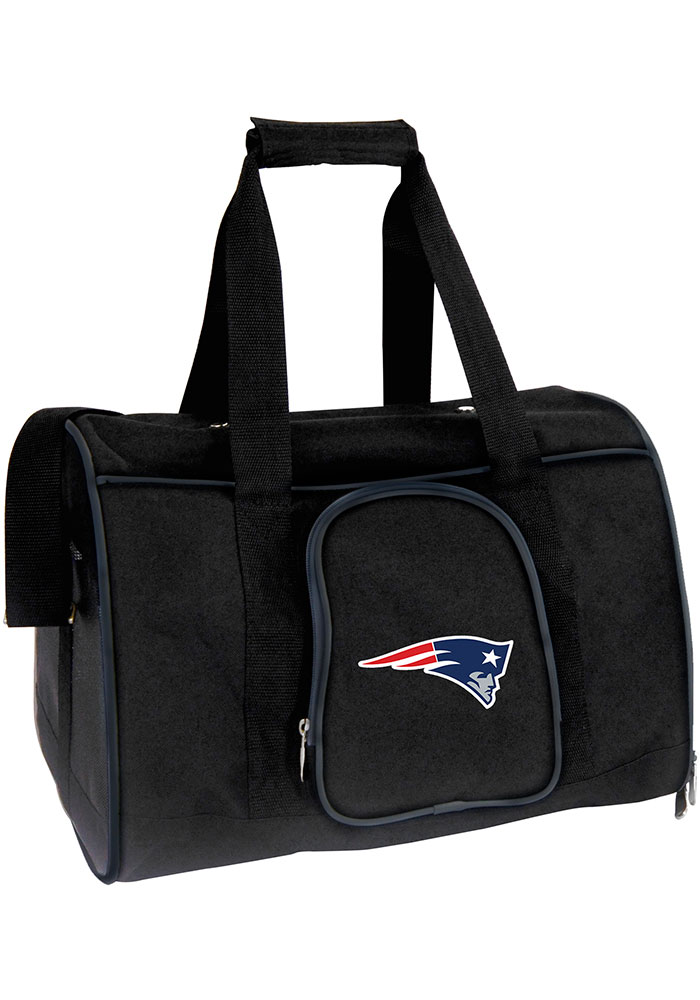 New England Patriots Black 16g Pet Carrier Luggage - Image 1