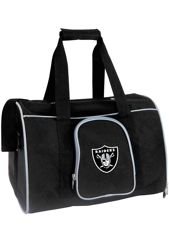 Oakland Raiders Black 16g Pet Carrier Luggage - Image 1