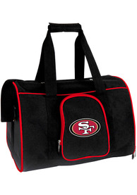 San Francisco 49ers Black 16 Pet Carrier Luggage