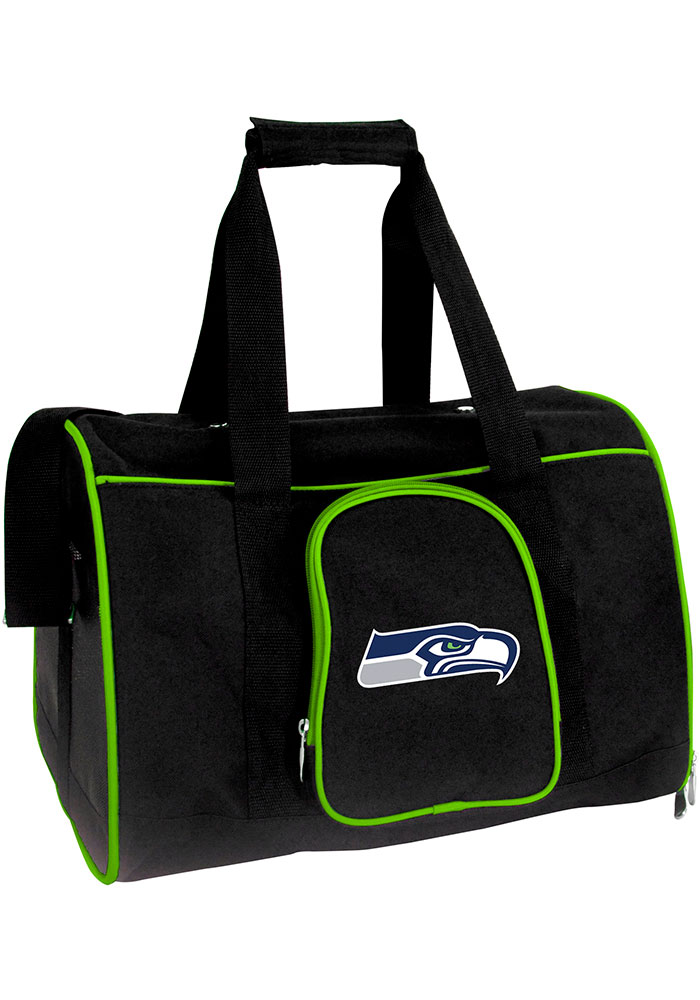 Seattle Seahawks Black 16 Pet Carrier Luggage - Image 1