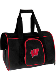 Wisconsin Badgers Black 16 Pet Carrier Luggage