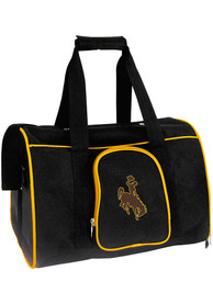 Wyoming Cowboys Black 16 Pet Carrier Luggage