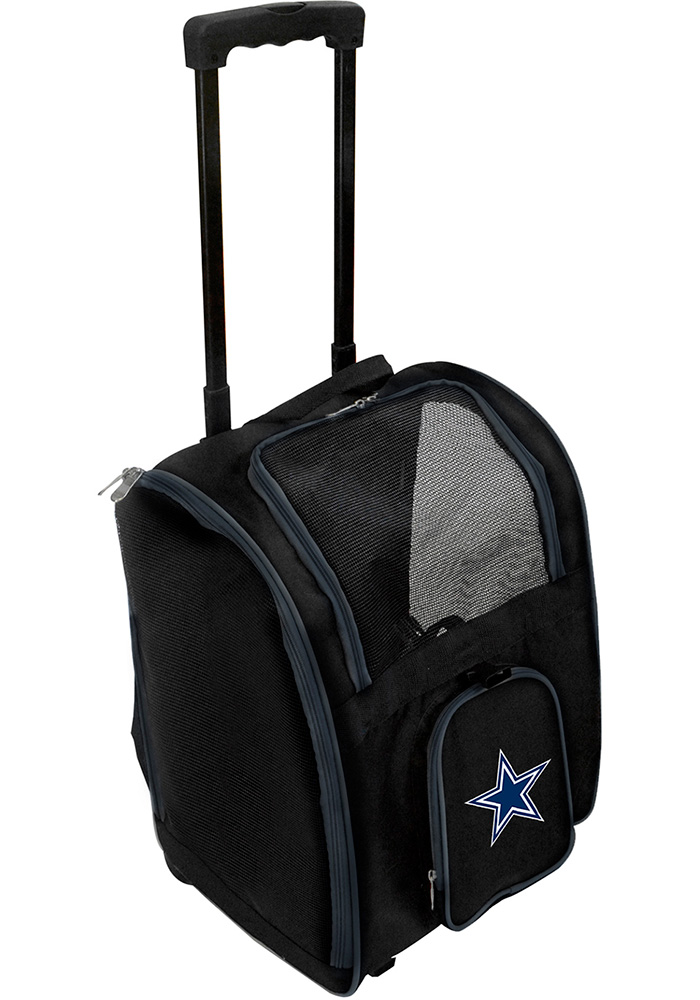 Dallas Cowboys Black Premium Pet Carrier Luggage - Image 1