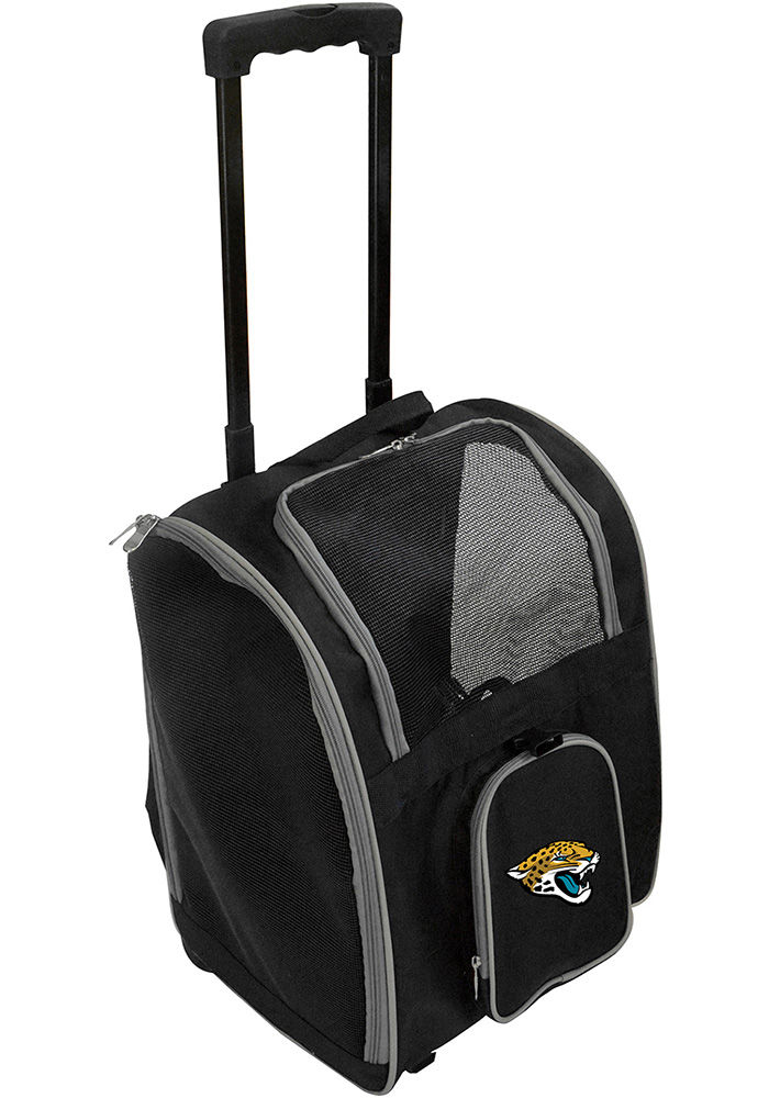 Jacksonville Jaguars Black Premium Pet Carrier Luggage - Image 1