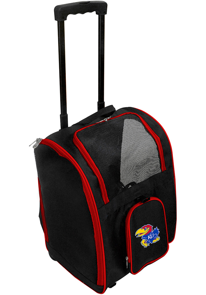 Kansas Jayhawks Black Premium Pet Carrier Luggage - Image 1