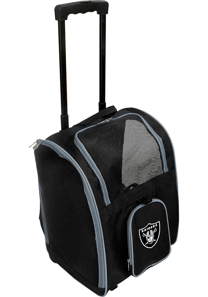 Las Vegas Raiders Black Premium Pet Carrier Luggage - Image 1