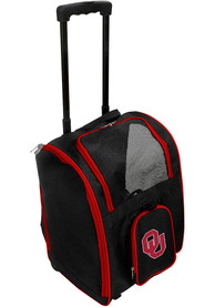 Oklahoma Sooners Black Premium Pet Carrier Luggage