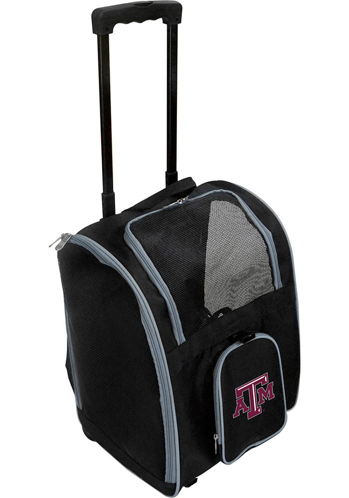 Texas A&M Aggies Black Premium Pet Carrier Luggage - Image 1