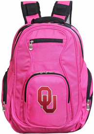 Oklahoma Sooners 19 Laptop Backpack - Pink