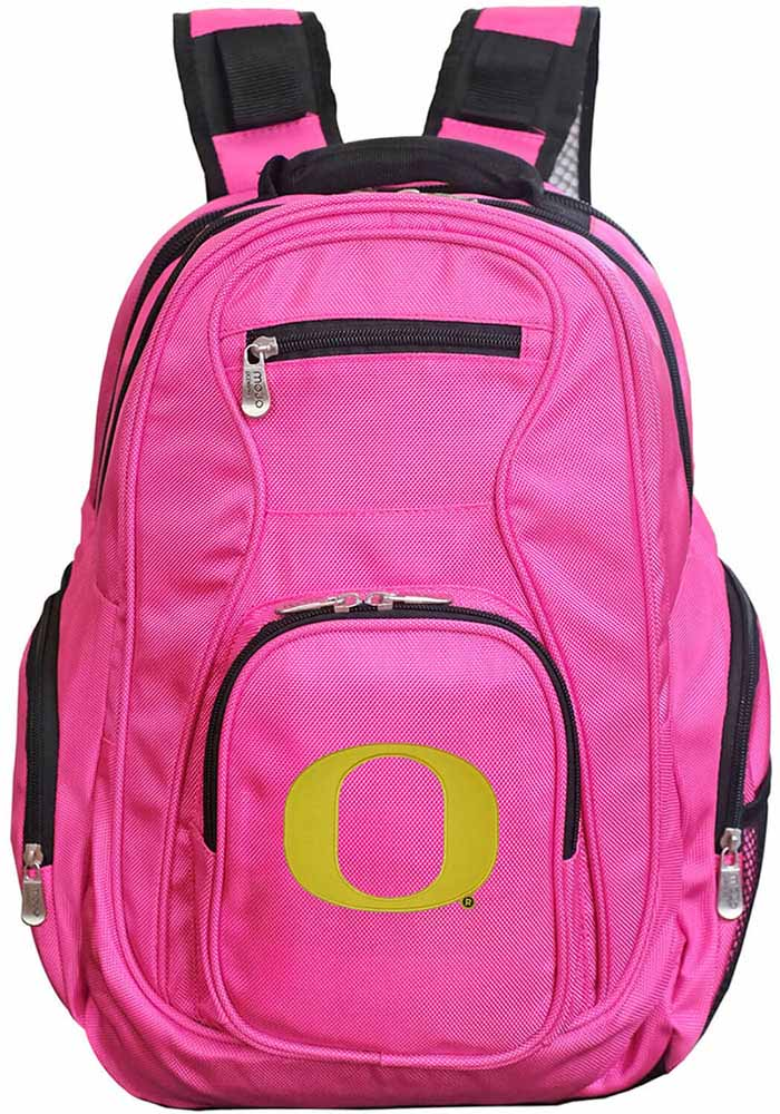 Oregon Ducks Pink 19 Laptop Backpack - Image 1