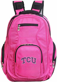 TCU Horned Frogs 19 Laptop Backpack - Pink