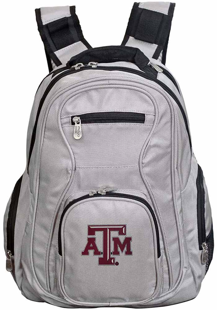 Texas A&M Aggies Grey 19 Laptop Backpack - Image 1