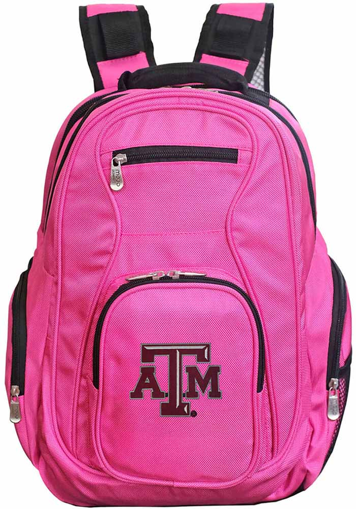 Texas A&M Aggies Pink 19 Laptop Backpack - Image 1
