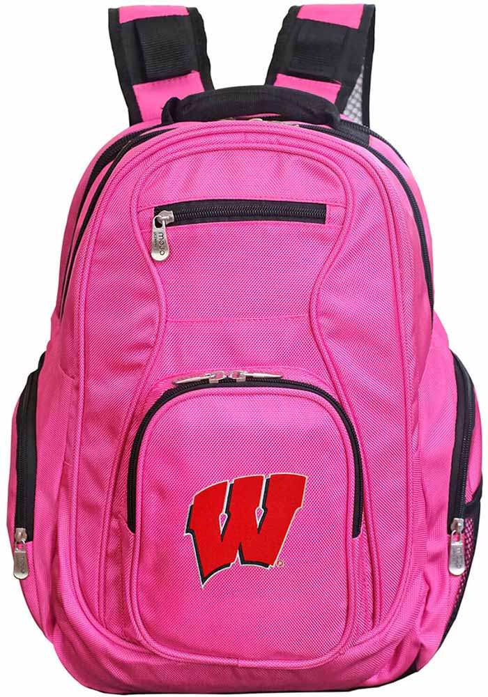 Wisconsin Badgers Pink 19g Laptop Backpack - Image 1
