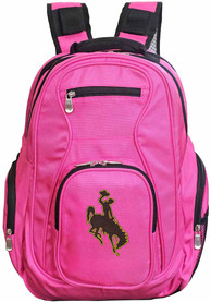 Wyoming Cowboys 19 Laptop Backpack - Pink