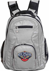 New Orleans Pelicans 19 Laptop Backpack - Grey