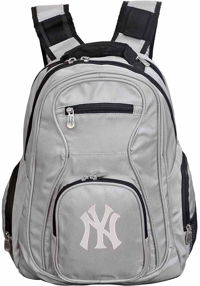 New York Yankees Grey 19g Laptop Backpack - Image 1