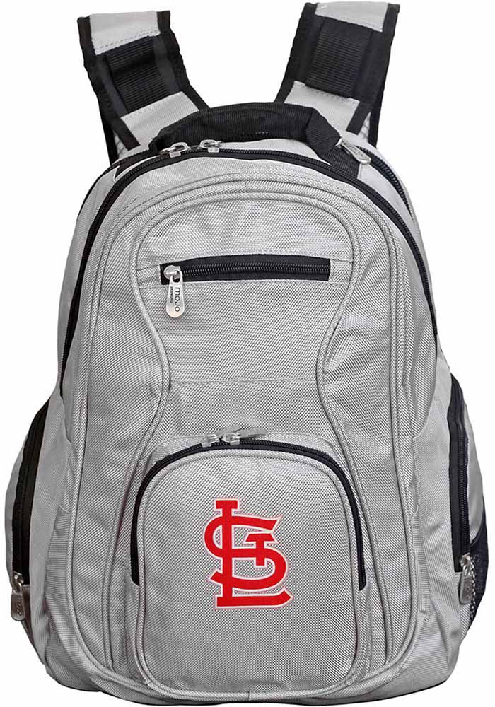 St Louis Cardinals Grey 19g Laptop Backpack - Image 1