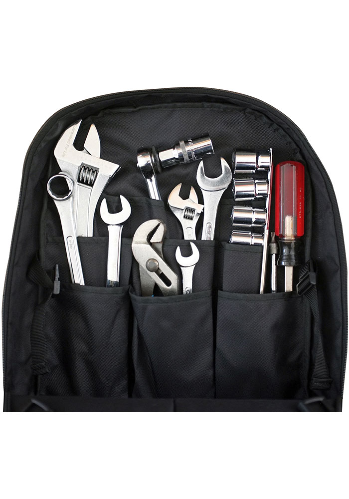 Wisconsin Badgers Red 18 Tool Backpack - Image 3