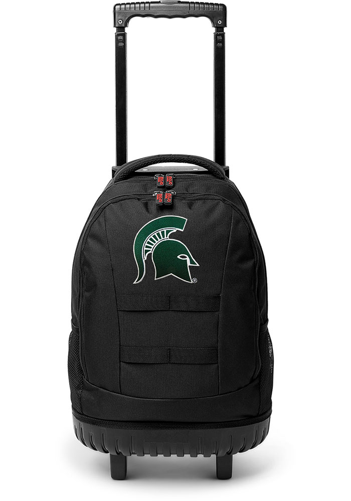 Michigan State Spartans Green 18 Wheeled Tool Backpack - Image 1