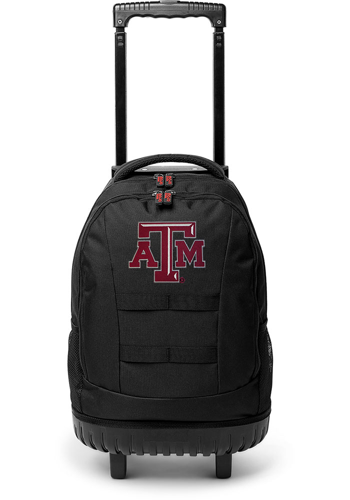 Texas A&M Aggies Maroon 18 Wheeled Tool Backpack - Image 1