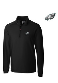 Cutter and Buck Philadelphia Eagles Black Jackson 1/4 Zip Pullover