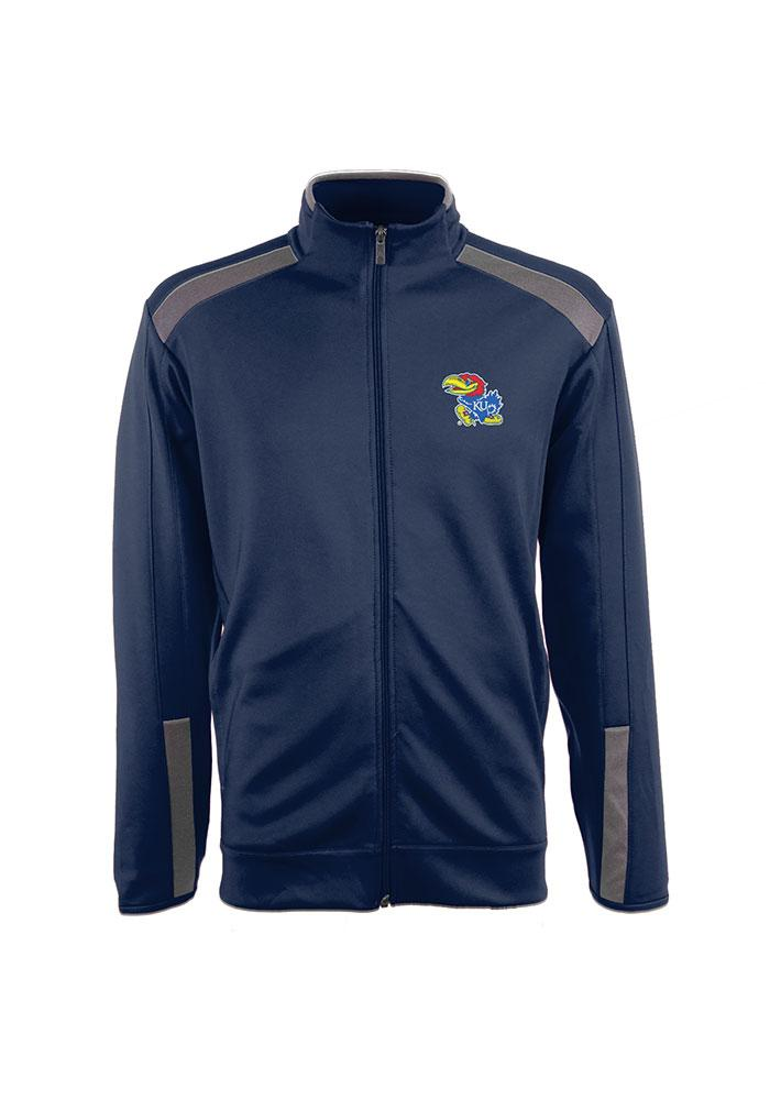 Antigua Kansas Jayhawks Mens Blue Flight Track Jacket - Image 1